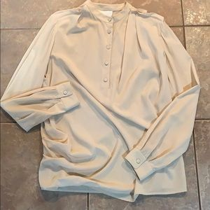 3.1 Philip Lim silk blouse pleated side detail